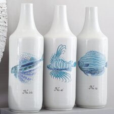 Coral Fish Vases (Set of 3)