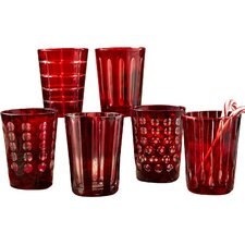 Hand-Etched Old-Fashioned Glasses (Set of 6)