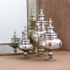 3 Piece Pentimento™ Vintage Covered Decorative Urn Set