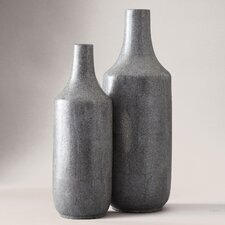 2 Piece Shagreen Vase Set