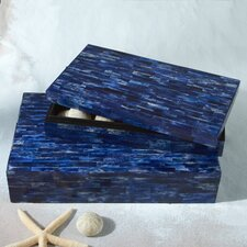 La Mer Lapis Tiled Boxes (Set of 2)