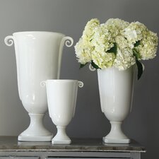 Classical Ceramic Urns (Set of 3)