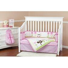 Baby Owl 5 Piece Crib Bedding Set