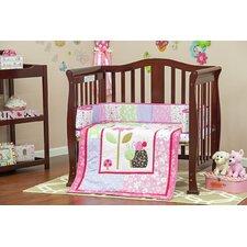 Spring Time Portable 3 Piece Crib Bedding Set