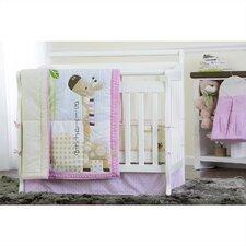 Jungle Friends 5 Piece Reversible Portable Crib Bedding Set