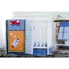 On The Go  5 Piece Reversible Portable Crib Bedding Set