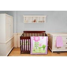 Spring Garden 5 Piece  Reversible Portable Crib Bedding Set