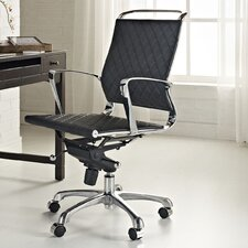 Vibe Mid-Back Leather Office Chair
