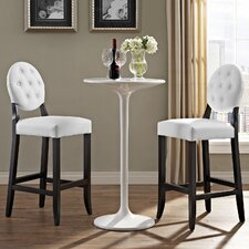 """Button 29"""" Bar Stool with Cushion (Set of 2)"""