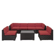 Aero 7 Piece Sectional Seating Group with Cushions