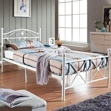 Cottage Twin Iron Panel Bed