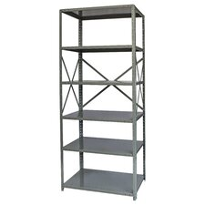 "Hi-Tech Free Standing 87"" H Six Shelf Shelving Unit"