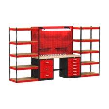 Fort Knox Open Storage Modular Wood Top Workbench
