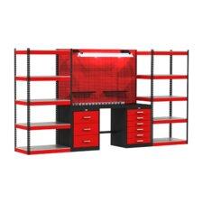 Fort Knox Open Storage Modular Steel Top Workbench