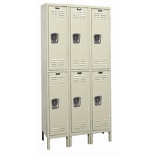 Galvanite 2 Tier 3 Wide School Locker