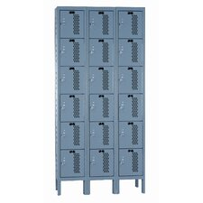 Heavy-Duty 6 Tier 3 WideVentilated Box Locker
