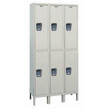 Maintenance-Free 2 Tier 3 Wide Quiet Locker