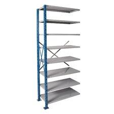 H-Post High Capacity Open Style 8 Shelf Shelving Unit Add-on