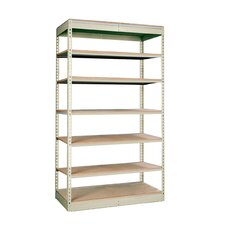"Rivetwell Single Rivet Boltless 84"" H 7 Shelf Shelving Unit Add-on"