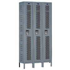 Heavy-Duty 1 Tier 3 Wide Ventilated Box Locker