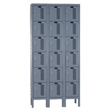Heavy-Duty 3 Wide 6 Tier Ventilated Box Locker