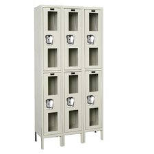 Safety-View 2 Tier 3 Wide Contemporary Locker