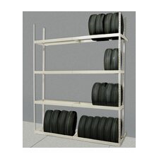 "Rivetwell Tire Storage 120"" H 4 Shelf Shelving Unit Add-on"