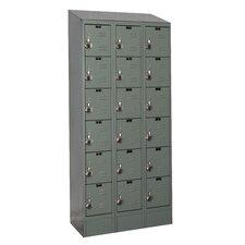ReadyBuilt II 6 Tier 3 Wide Box Locker