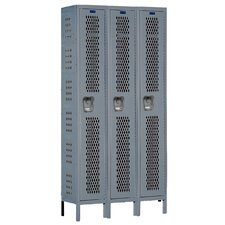 Heavy-Duty 2 Tier 3 Wide  Ventilated Knock-Down Locker