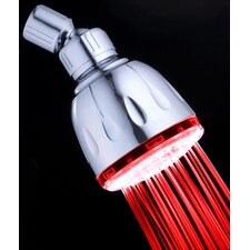2 Minute Color Changing Fixed LED Illuminated Shower Head