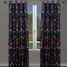 Sansa Floral Grommet Curtain Panels (Set of 2)