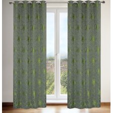 Tania Floral Grommet Curtain Panels (Set of 2)