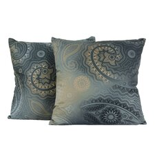 Paisley Gypsy Cotton Throw Pillow (Set of 2)