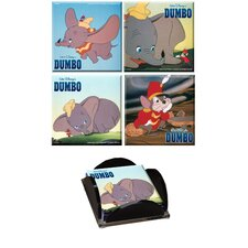 Dumbo Glass Print Coaster (Set of 4)