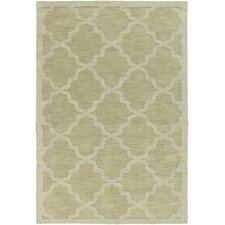 Central Park Sage Geometric Abbey Area Rug
