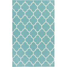 Vogue Teal Geometric Claire Area Rug