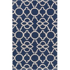 Marigold Arabella Hand-Crafted Navy Blue Area Rug