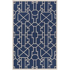 Marigold Leighton Hand-Crafted Navy Blue Area Rug