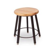 Round Hardwood Seat 5 Leg Stool