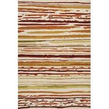 Colours Red/Orange Striped Indoor/Outdoor Area Rug