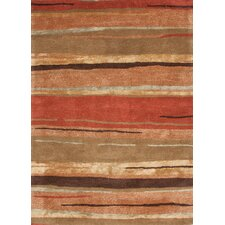 Baroque Red Abstract Rug