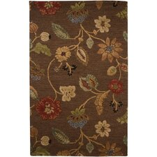 Blue Cocoa Brown Rug