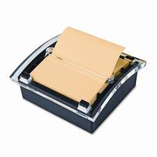 Designer Series Clear-Top Pop-Up Note Dispenser for 3x3 Self-Stick Notes, BLK