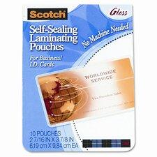 Self-Sealing Laminating Pouches, 9.6 mils, 2-7/16 x 3-7/8, 25/Pk