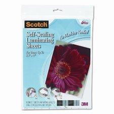 Self-Sealing Laminating Sheets, 6 mils, 8-1/2 x 11, 10/Pk