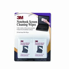 Notebook Screen Cleaning Wet Wipes, 24/Pack