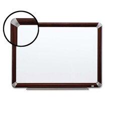 Dry-Erase Board,w/Marker/Accessory Tray,Mahogany