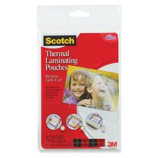 Scotch Photo Size Thermal Laminating Pouches, 5 Mil, 20/Pack (Set of 2)
