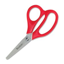 "Kid Scissors, 5"" Length, Blunt, Red (Set of 5)"