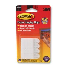 Command Picture Hanging Removable Interlocking Fasteners, 4 Set/Pack (Set of 2)
